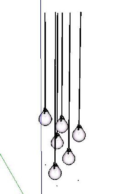 餐厅吊灯SU模型