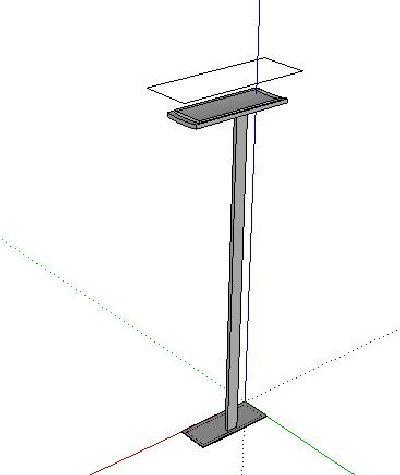 Sketchup落地灯模型