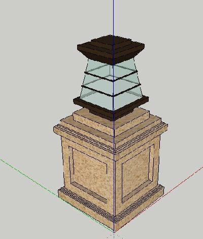 草图大师模型围墙灯具