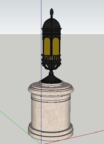 庭院灯具SU模型