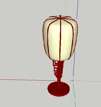 Sketchup模型中式灯具