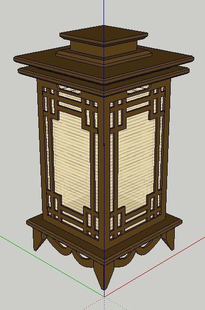 中式灯具草图大师模型
