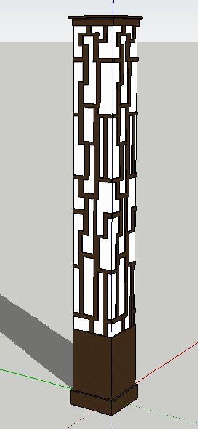 草图大师中式灯具模型