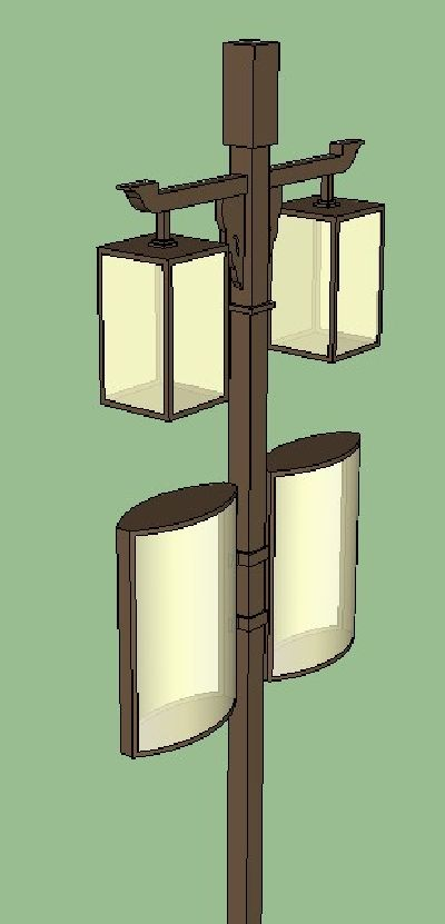 中式灯具SU模型