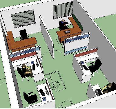 小型办公室SU模型