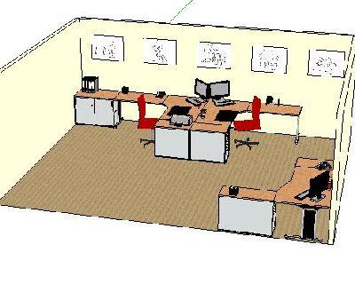 办公室草图大师模型