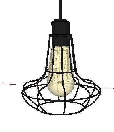 工业风灯具sketchup模型