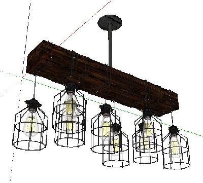 su工业风灯具模型