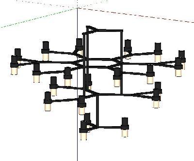 loft风格吊灯SU模型
