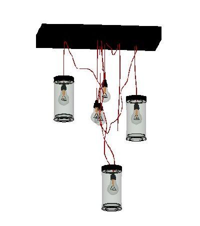 北欧工业风灯具SU模型