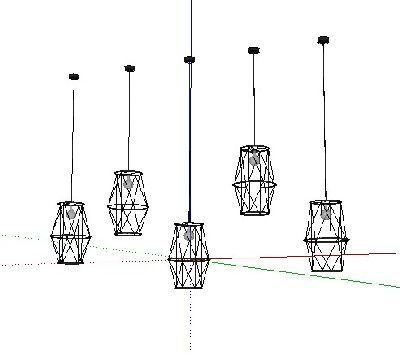 SU模型loft工业风吊灯SU模型