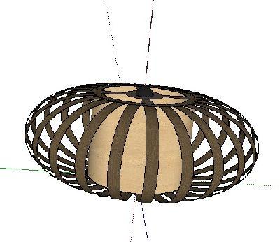 loft风格圆形吊顶SU模型