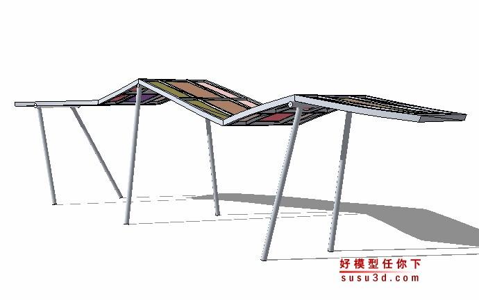 3dmax异形建筑_异形廊架花架景观亭SU模型 -好模型任你下